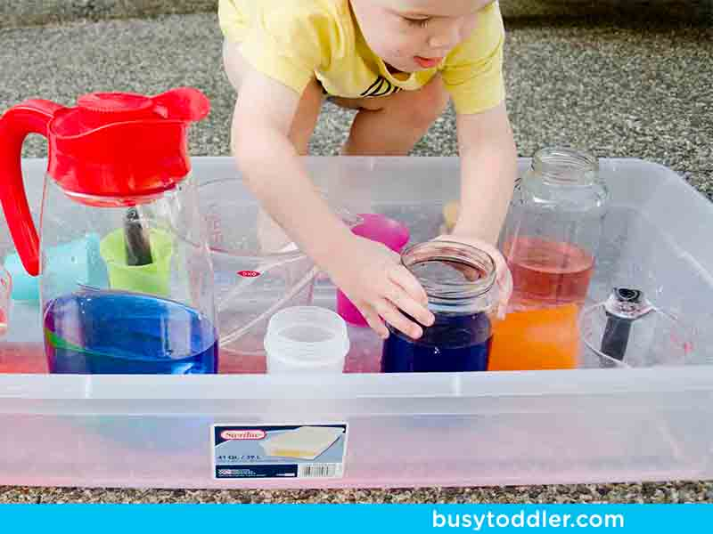 10. Toddler pouring station