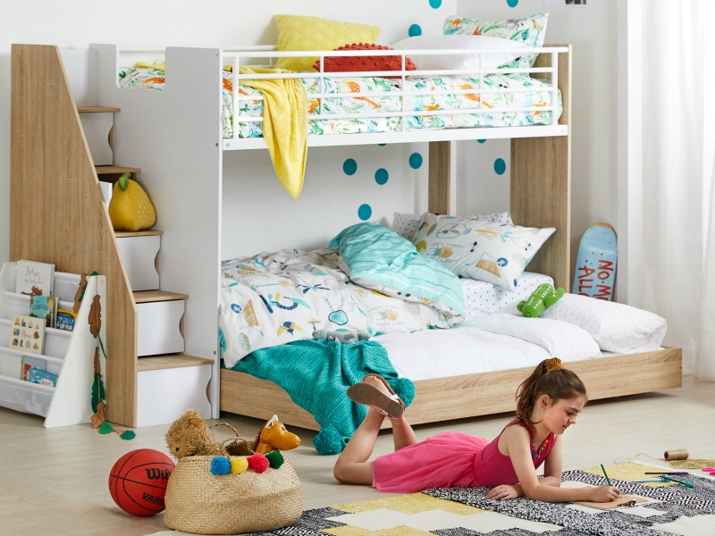 1. The loaded bunk bed