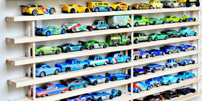 2. Shelves for toy cars