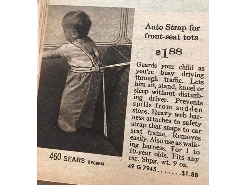 Front seat harness for tots