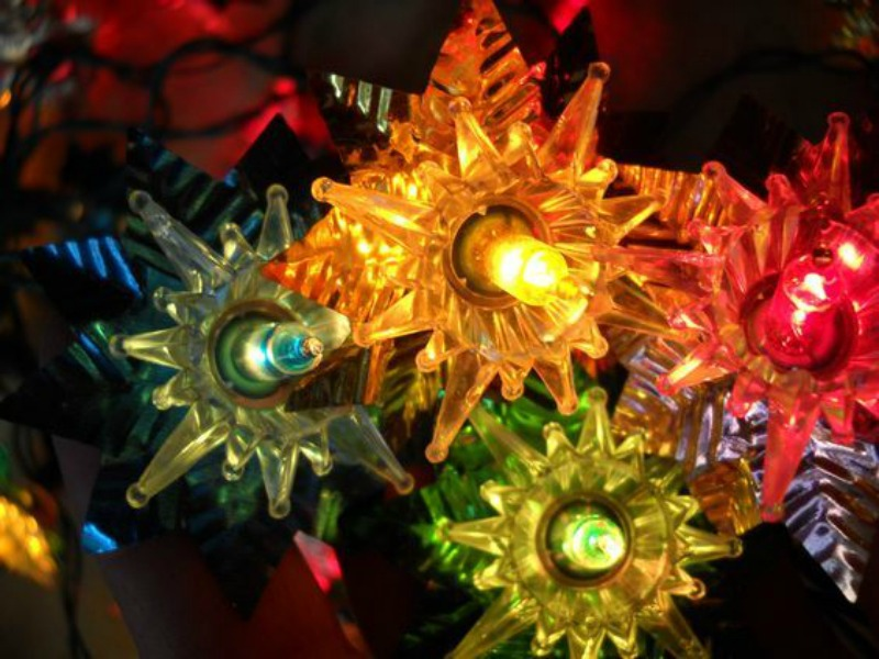 1. Vintage Christmas lights