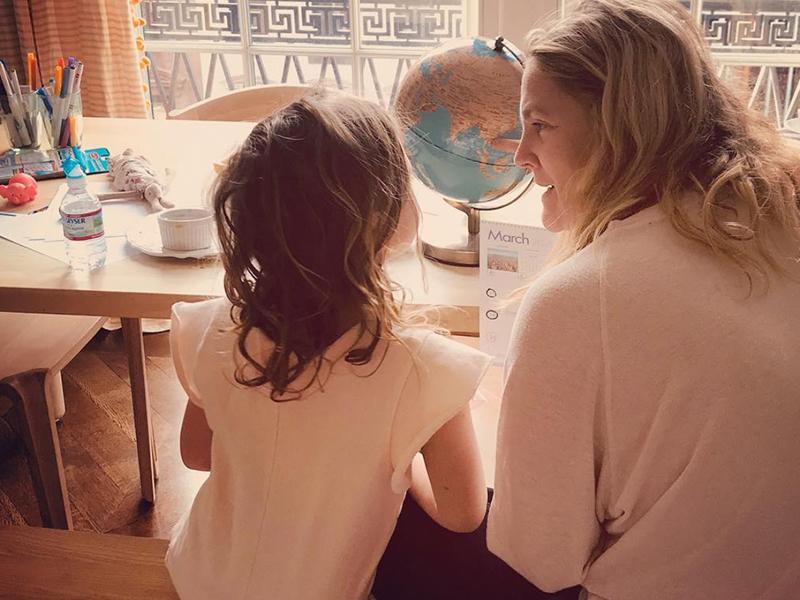 1. Drew Barrymore's working mum strategy