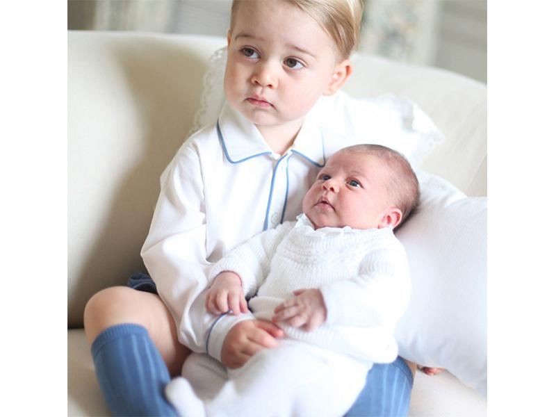 Prince George and Princess Charlotte - June 2015