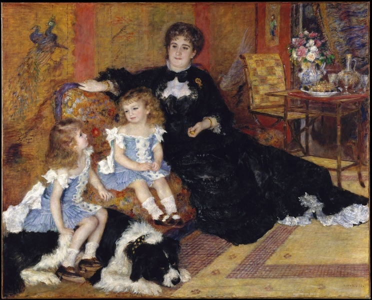 Madame Georges Charpentier and Her Children by Renoir