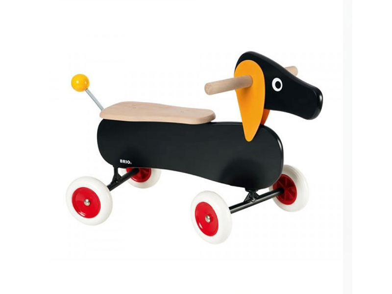 Adorable ride-on dachshund