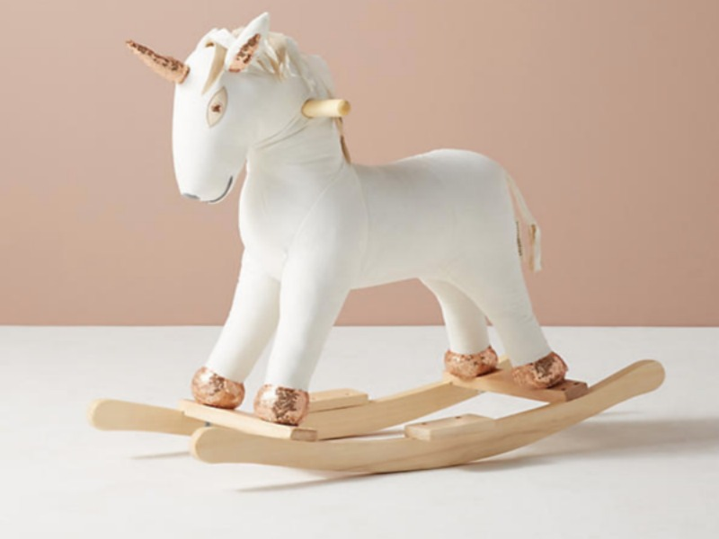 1. Anthropologie Unicorn Rocker