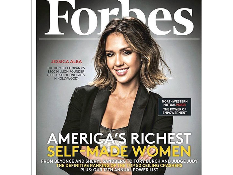 1. Jessica Alba - actor, mother, The Honest Company founder