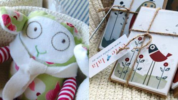 Evie Lala sheep and cards