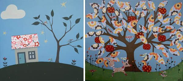 Charlotta Ward 3 Magnificent murals and charming canvas art from Charlotta Ward