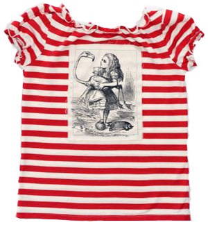 Heavenly Creatures, Alice in Wonderland, stripey tee