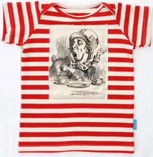 Heavenly Creatures, stripey tee, Mad Hatter, Alice in Wonderland