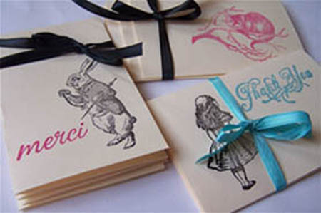 Alice thank you cards, Alice in Wonderland