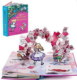 Robert Sabuda, pop up book, Alice in Wonderland, Alice's Adventures in Wonderland
