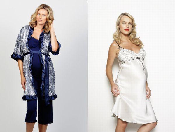 Blue Berry Torte robe and Vanilla Kisses night slip Cake Maternity lingerie