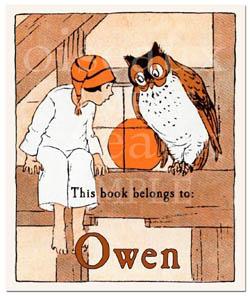 vintage bookplate etsy seller oiseaux