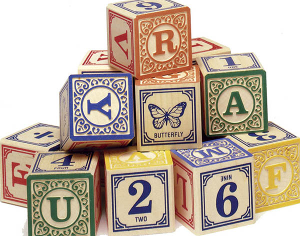 Uncle Goose Blocks wooden alphabet blocks