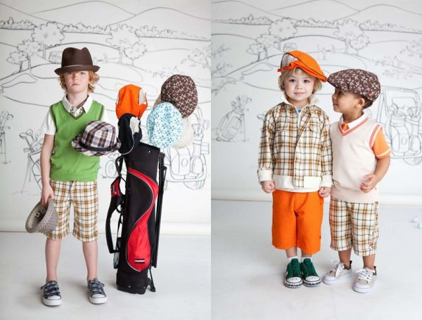 Fore Axel & Hudson Plaid shorts and jackets, hat collection