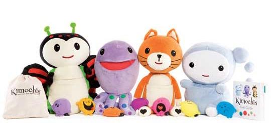 Range of four Kimochi plush toys