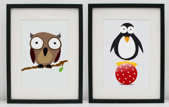 Children's art prints