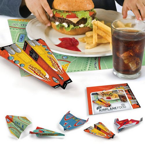 Fred and Friends Airplane Food paper plane placemats