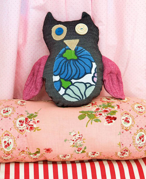 The Crafty Kid owl softie by Kelly Doust author of The Crafty  Minx