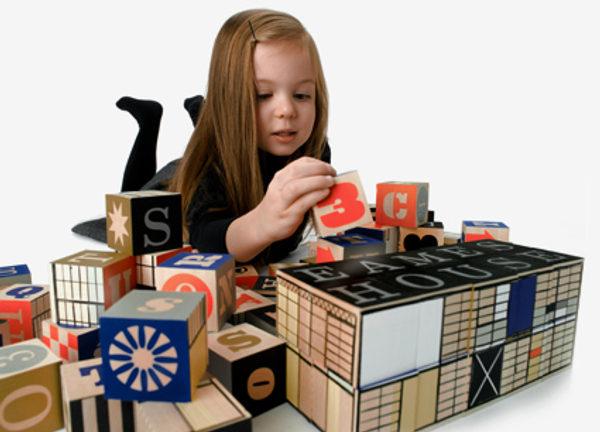 eames blocks 1 Eames House Blocks   designer blocks for tiny tots