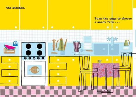 Follow the Line through the House kitchen