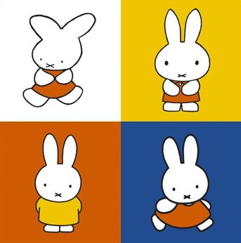 Changes to Miffy drawings over the years