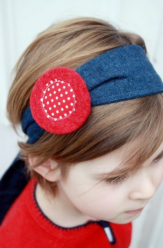 Twirling Betty tie-back headband