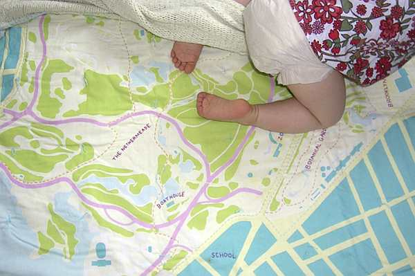 Baby on Haptic soft map quilt