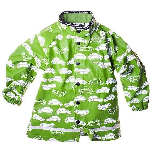 Polarn O Pyret car print rain coat in green