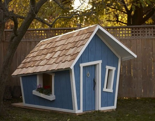 So many cubby houses you ll need to build a village for Funky house designs