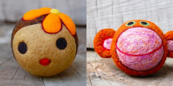 felted baby toys