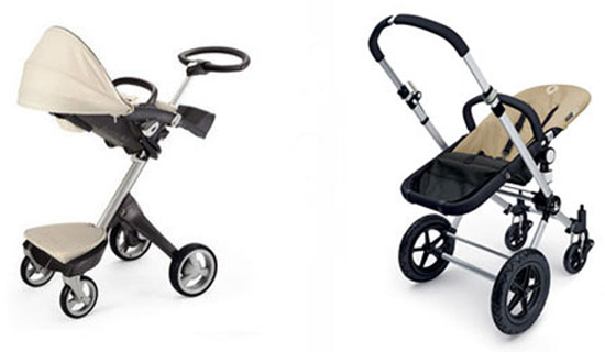 Stokke Xplory and Bugaboo Cameleon test drive at Bebe