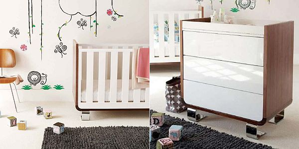 Tribeca Cot and chest of drawers