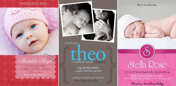 HelloBABY birth announcements for darling newbies – Birth Announcement Cards Australia