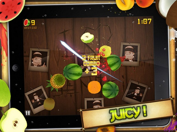 Fruit Ninja iPad app