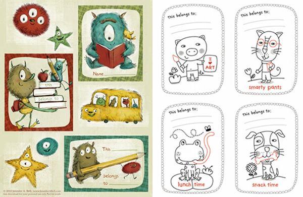 free printable bookplates for those precious books