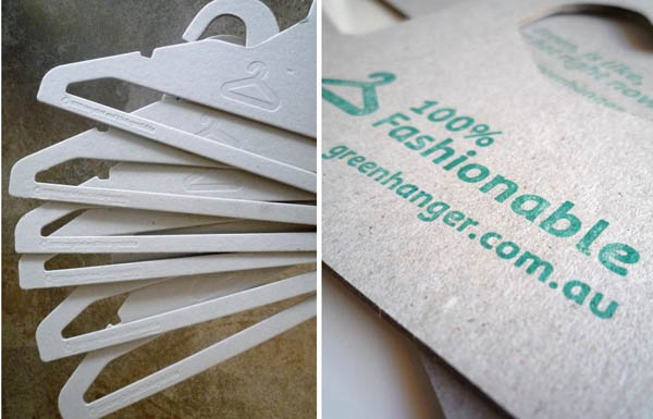 Recycled cardboard coat hanger