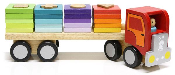 shape sorter wooden truck