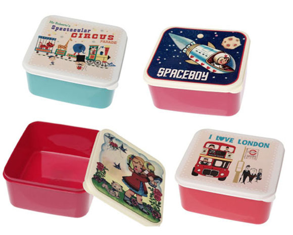 retro dolly spaceboy vintage circus love london lunchbox