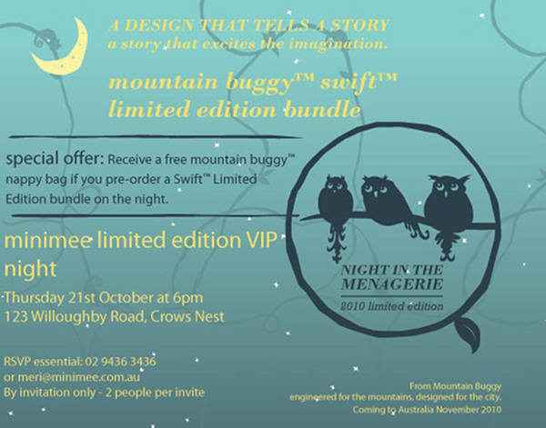 Mountain Buggy Night in the Menagerie Swift