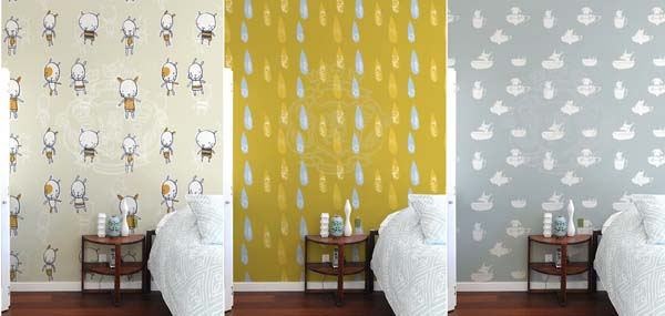 children's designer wallpaper
