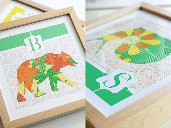 JH Designs Animal Alphabet Prints