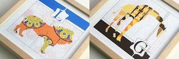 JHill Designs Animal Alphabet Prints