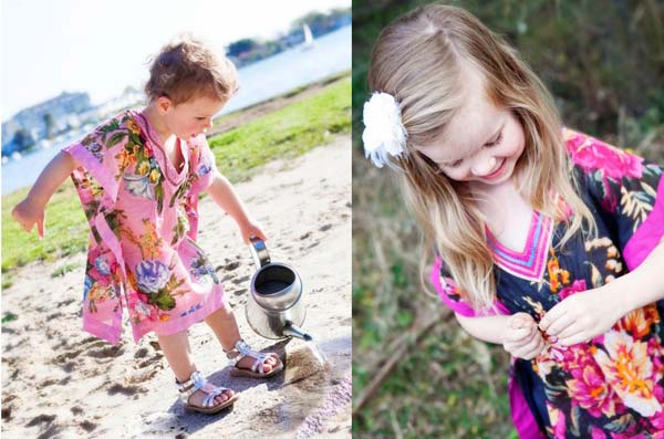 kids beach cover up