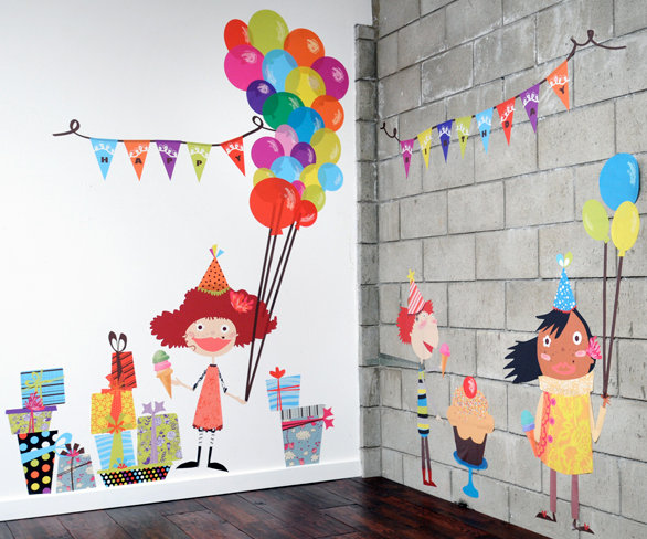 birthday party wall decal