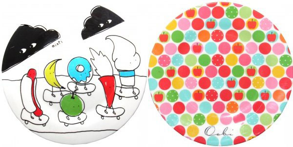 Oobi and Minti charity plates
