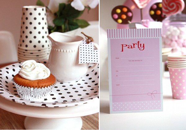 sambellina party ware cups plates invitations