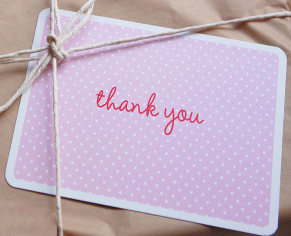 sambellina thank you cards party ware